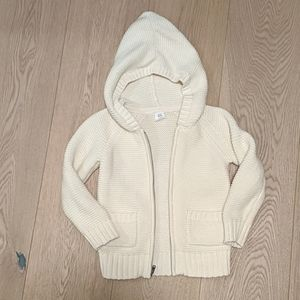 Gap Kids knitted hooded sweater with full zipper